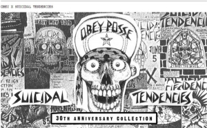 OBEY X SUICIDAL TENDENCIES POUR LA COLLECTION HOLIDAY 13