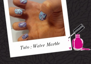 BEAUTY : LE TUTORIEL NAIL ART,  WATER MARBLE