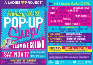 LADIES LOVE PROJECT™ PRESENTS: HOLIDAY 2012 POP UP SHOP!
