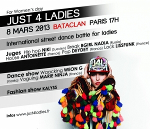 EVENT DANCE : JUST 4 LADIES AU BATACLAN