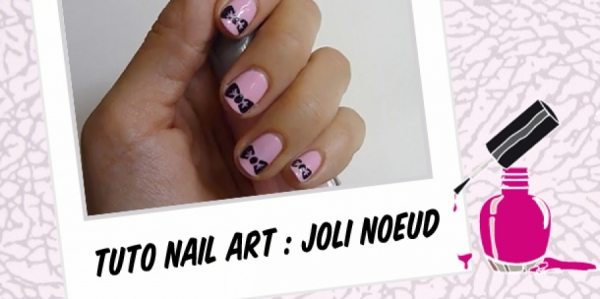 BEAUTY : CUTE BOW NAIL ART TUTORIAL